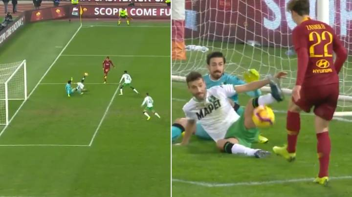 Nicolo Zaniolo Scores 'The Most Disrespectful' Goal Ever, Sits Down Goalkeeper And Defender