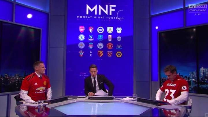 Gary Neville Wears Liverpool Shirt, Makes Jamie Carragher Wear United Top In Return‬