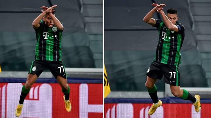 Ferencvaros' Myrto Uzuni Does Cristiano Ronaldo's Celebration After Scoring Against Juventus