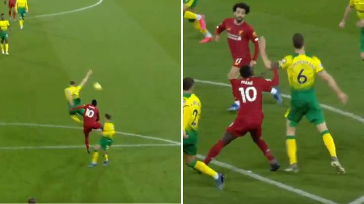 """Fans Think VAR Missed A """"Clear"""" Push By Sadio Mane In The Build-Up To Liverpool's Goal"""