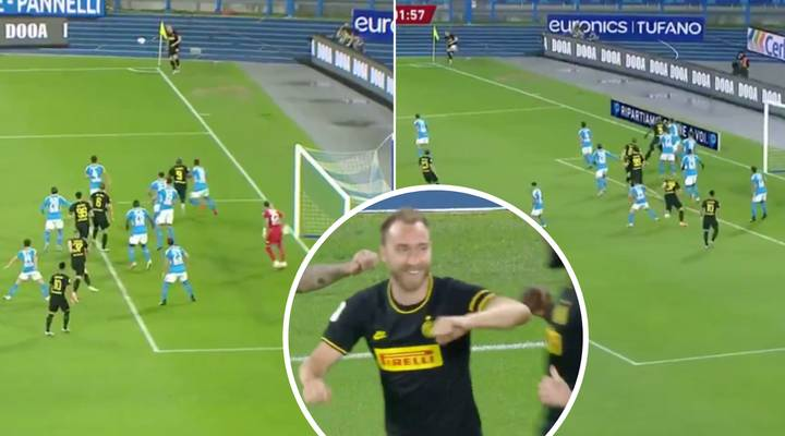 Christian Eriksen Scores From Direct Corner To Give Inter Milan Important Opening Goal Against Napoli