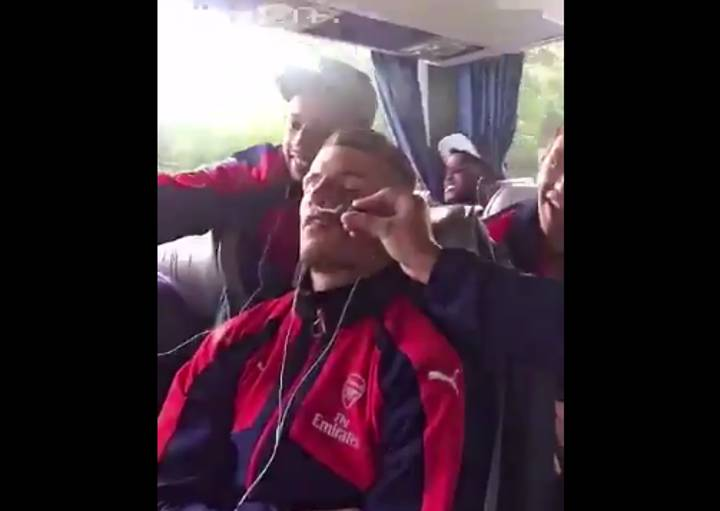 WATCH: A Sleeping Granit Xhaka Is Pranked By Arsenal Teammates