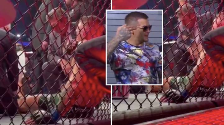 Footage Shows Conor McGregor Appearing To Tell Dustin Poirier And His Wife He Will Kill Them 'In Their Sleep'