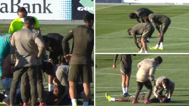 Moussa Dembele Faints During Atletico Madrid Training