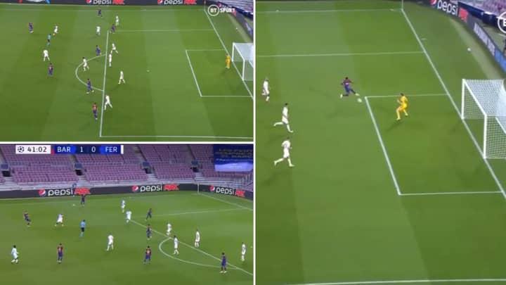Barcelona Wonderkid Ansu Fati Scores Fine Volley After Beautiful Frenkie De Jong Assist