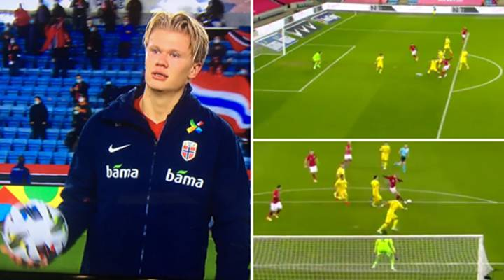 Erling Haaland Scores Absolute Rocket To Seal Sensational Hat-Trick For Norway