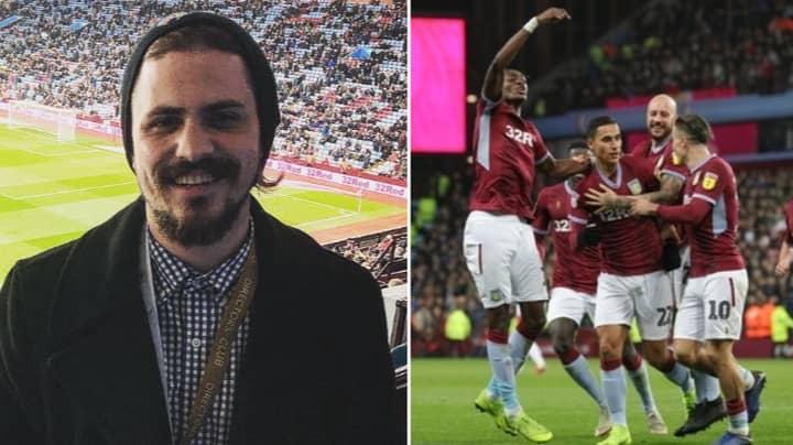 Life-Long Aston Villa Fan Went To His First Match At Villa Park Last Night