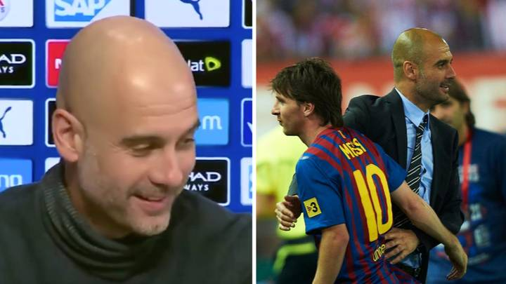 What Pep Guardiola Said In February When Reporter Asked If Lionel Messi Was A Transfer Target