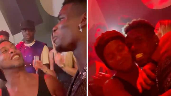 Manchester United's Paul Pogba Pictured In Nightclub With Brazilian Legend Ronaldinho