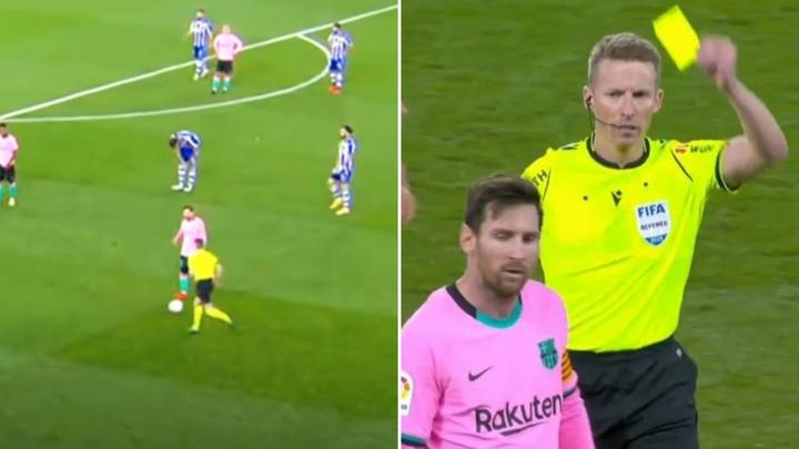 Lionel Messi Kicks Ball Towards Referee In Rage During Alaves Vs Barcelona - Avoids A Red Card