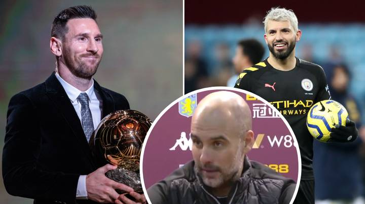 Pep Guardiola's Brilliant Response When Asked If Sergio Aguero Is The Best Striker You've Ever Coached