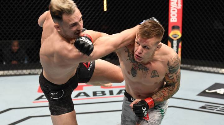 Jimmy Crute Knocked His Opponent Out In Under Two Minutes And UFC President Dana White Was Loving It
