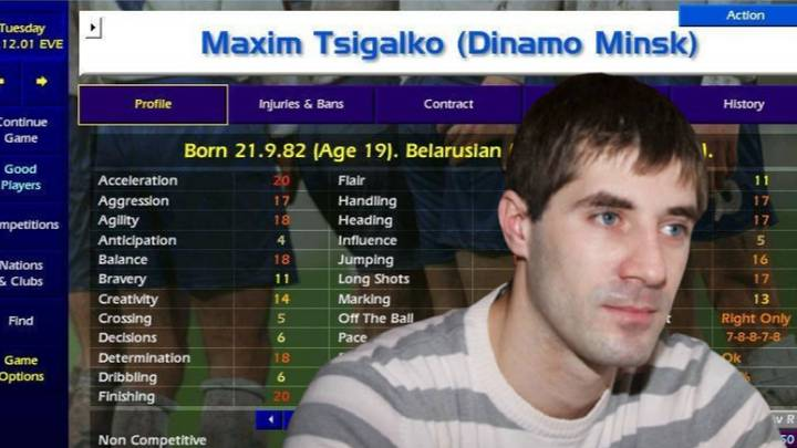 A Tribute To Maxim Tsigalko: The Greatest Championship Manager Player Of All Time