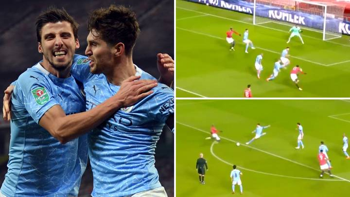 Ruben Dias And John Stones Compilation Shows Their Phenomenal Partnership Against Manchester United