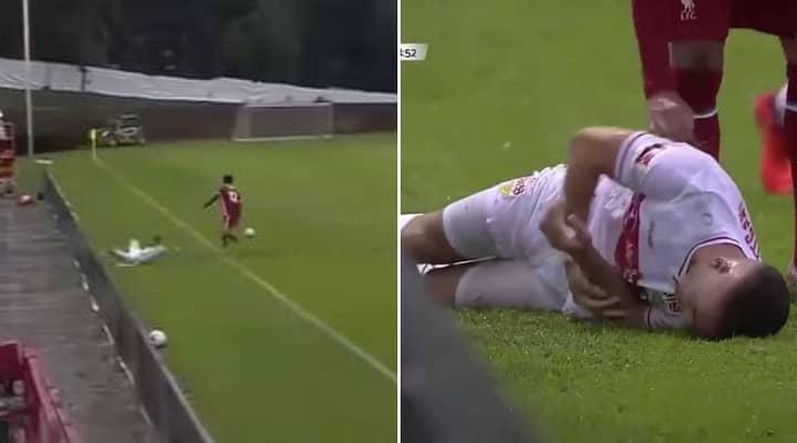 Joe Gomez Breaks Stuttgart Player's Elbow In Liverpool Friendly