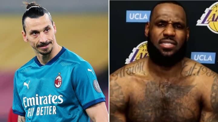 "Zlatan Ibrahimovic Doubles Down On ""Stick To Sports"" Claim After LeBron James' Savage Response"