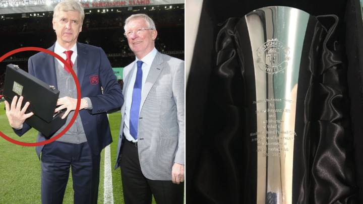 The Message Engraved On The Gift Sir Alex Presented To Arsene Wenger