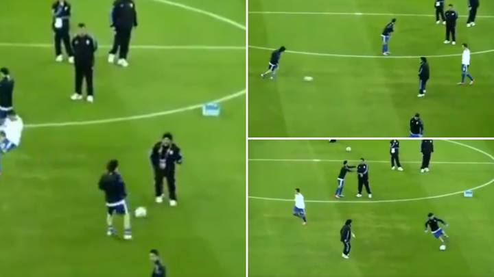 Rare Footage Of Lionel Messi And Diego Maradona Passing To Each Other Is Incredibly Silky