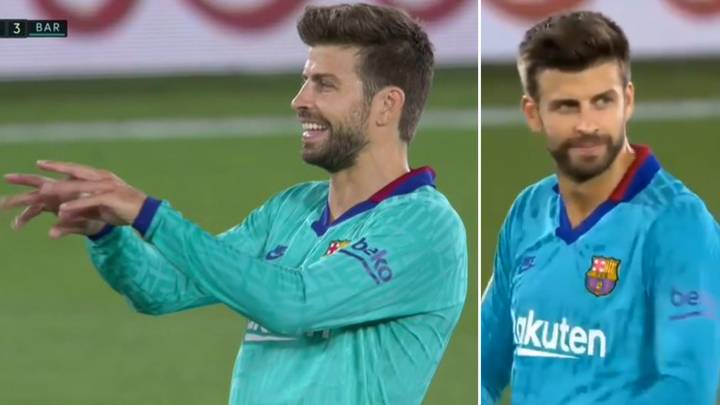 Gerard Pique Makes Controversial VAR Gesture After Lionel Messi's Disallowed Goal Vs Villarreal