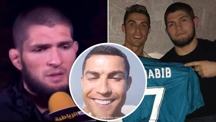 Khabib Nurmagomedov Opens Up On Relationship With Cristiano Ronaldo Following UFC 254 Message
