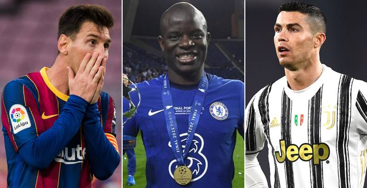 N'Golo Kante Ahead Of Lionel Messi And Cristiano Ronaldo In 2021 Ballon d'Or Odds