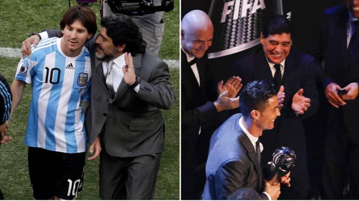 Diego Maradona Brilliantly Answered The Lionel Messi Vs. Cristiano Ronaldo Debate