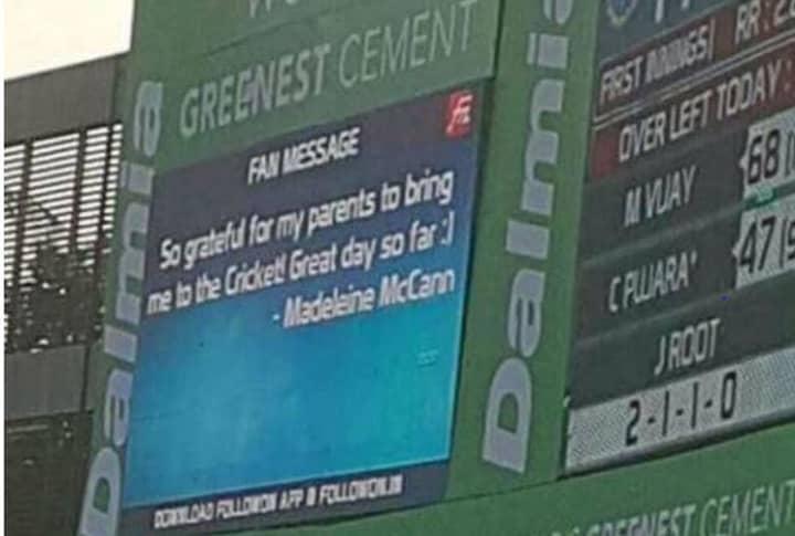 England Cricket Fans Hijack Messaging Billboard To Post Twisted Jokes