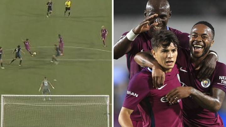 WATCH: 17-Year Old Manchester City Youngster Brahim Diaz Scores A Worldie Against Real Madrid