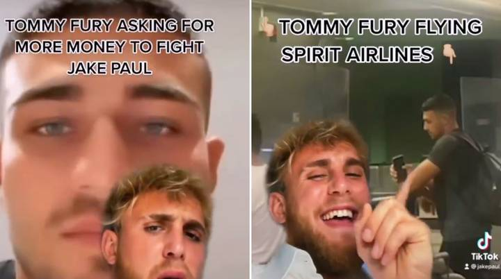"""Jake Paul Presents Tommy Fury With """"Generous"""" New Offer After Boxer Is Pictured Flying Budget"""