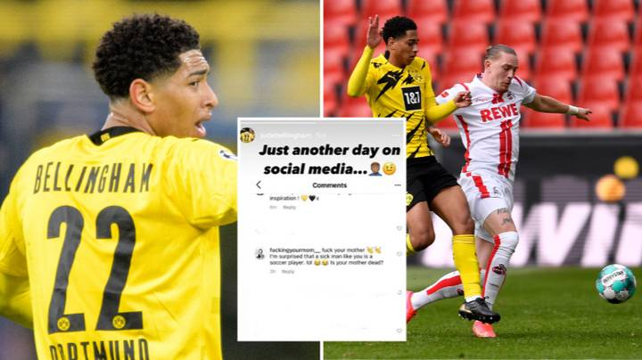 Borussia Dortmund Midfielder Jude Bellingham Shares Disgusting Racist Abuse He Received Following Draw Against FC Koln