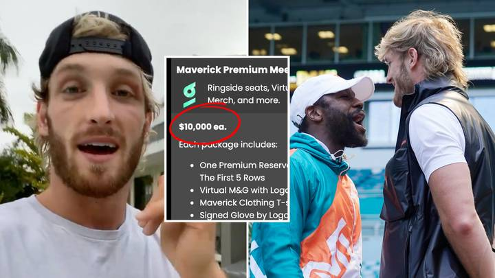 Logan Paul Vs Floyd Mayweather 'VIP Packages' Are Now On Sale, Fans Are Outraged At The Price
