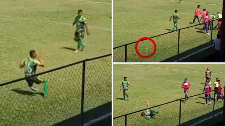 Player Pretends To Be Injured After Hitting Himself With Object During Guatemalan League Game