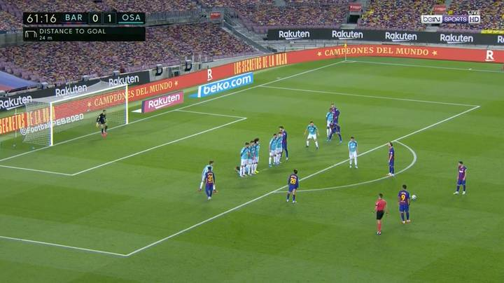 Lionel Messi Scores Another Glorious Free-Kick For Barcelona