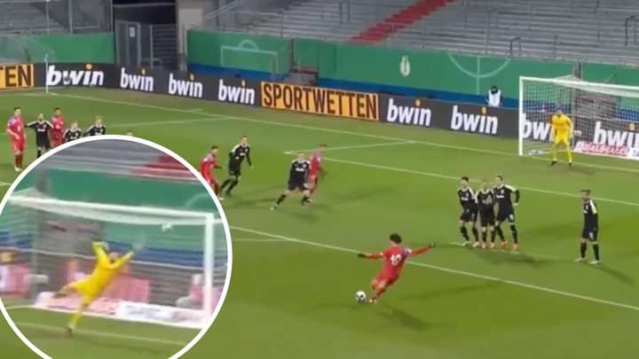 Leroy Sane Scores A Sensational 25-Yard Free-Kick For Bayern Munich Against Holstein Kiel