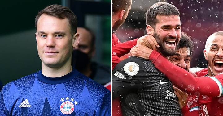 Manuel Neuer Exchanged Private Messages With Alisson After Liverpool Keeper's Goal