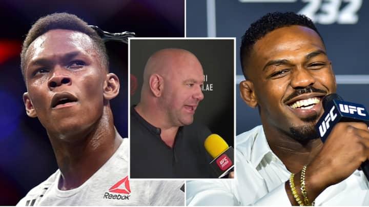 UFC President Dana White Reacts To Twitter War Between Jon Jones And Israel Adesanya