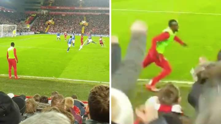 Sadio Mane Celebrated More Than Curtis Jones After His Screamer Against Everton