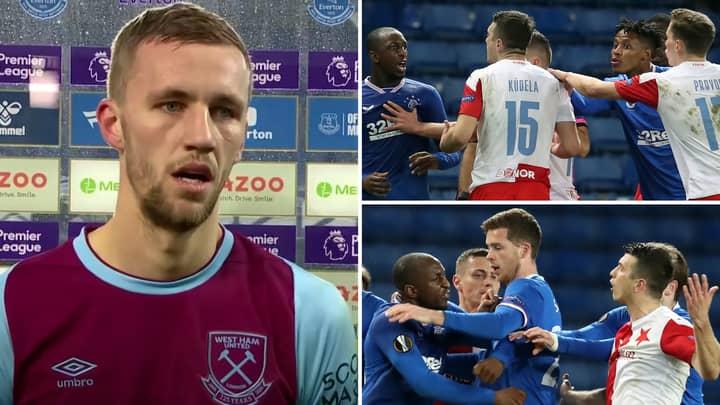 Tomas Soucek Defends Ondrej Kudela Against 'Absurd' 10-Match Ban From UEFA After Glen Kamara Clash
