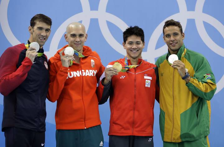 Lad Wins Singapore's First Ever Gold Medal And Beats His Hero Michael Phelps