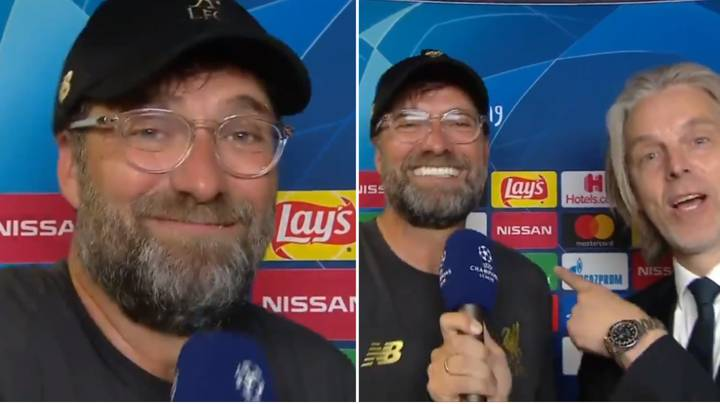 """Jurgen Klopp Sings """"Lets Talk About Six, Baby"""" During His Post-Match Interview"""
