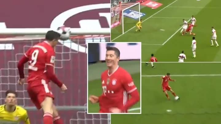 Robert Lewandowski Scores Perfect Hat-Trick In Just 22 Minutes Against Stuttgart