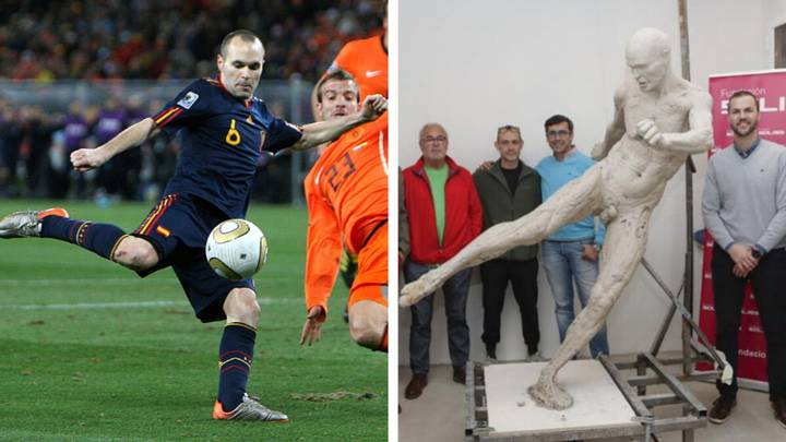 Andres Iniesta Honoured With Naked Statue To Celebrate 2010 World Cup Winning Goal