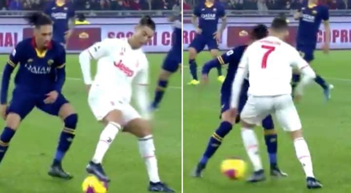 Cristiano Ronaldo Sends Chris Smalling Back To England With Insane Skill