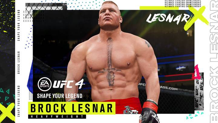 Brock Lesnar To Be Playable Fighter In New EA Sports UFC 4 Update