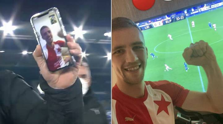West Ham's Tomas Soucek Joins In Slavia Prague Celebrations By FaceTime