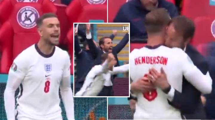 Jordan Henderson Was A Complete Fanboy When England's Second Goal Went In, Cameras Caught His Reaction