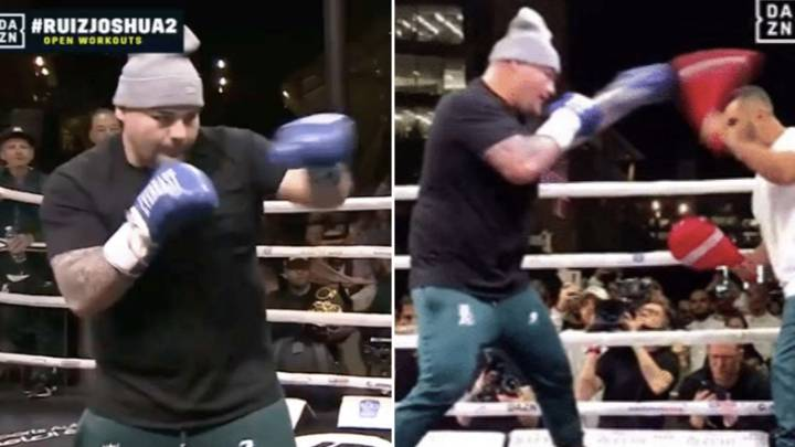 Fans Fear For Anthony Joshua After Seeing Andy Ruiz's Scary Hand Speed In Public Workout