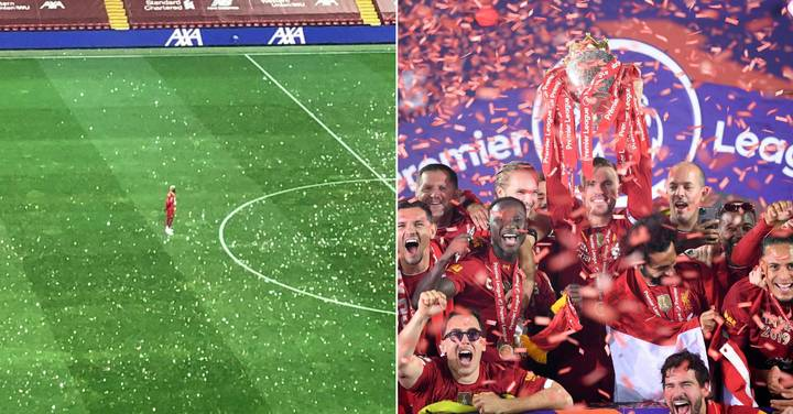 Divock Origi Was The Last Player On The Pitch Celebrating Liverpool's Title Win