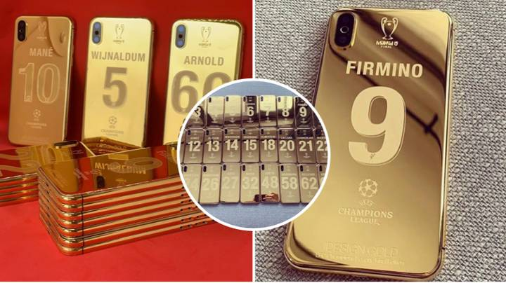 Liverpool Players Each Receive Insane Customised Champions League 24K Gold Plated iPhone X