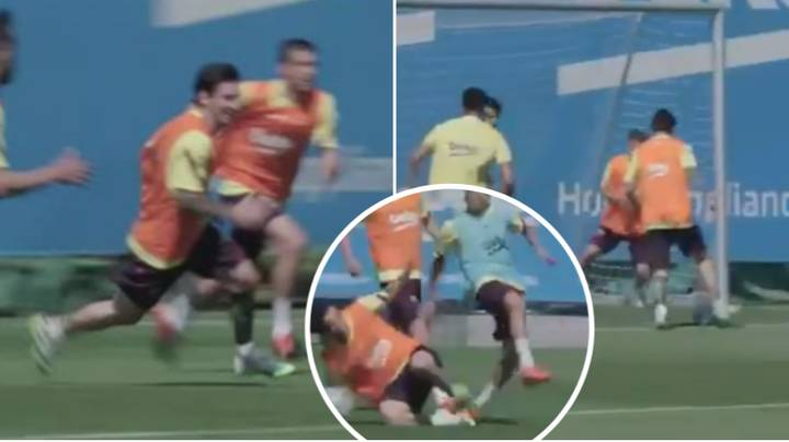 No Beard Messi Destroying The Entire Barcelona Squad In Training Is The Best Thing You'll Watch Today